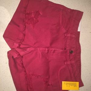 H&M Brand New Pink Denim shorts (With Tags)